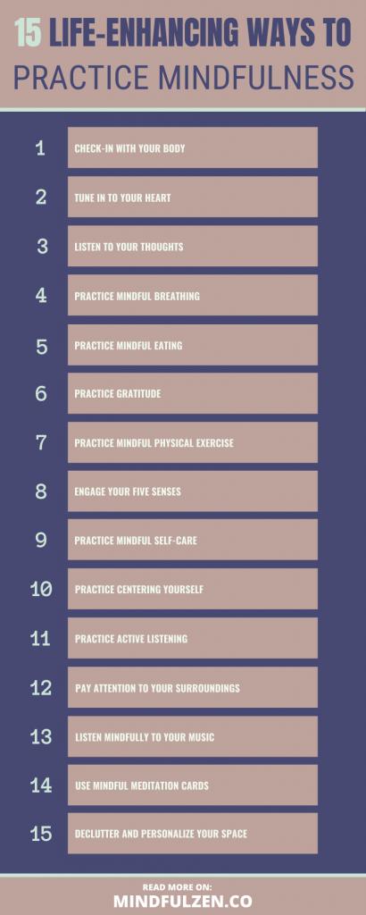 15 Life-Enhancing Ways to Practice Mindfulness